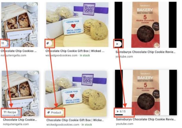 google-imagens-ícones-especiais-produtos-receitas-vídeos