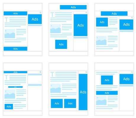 formatos de anúncios de imagem para o Google Adsense